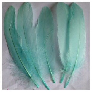 20 шт. Бледно-голубой цвет. Перо Петуха 15-20 см