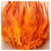 20 шт. Оранжевый цвет. Перья петуха 5-10 см. Цветные перья