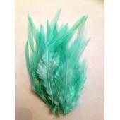 20 шт. Бледно-голубой цвет. Перья петуха 5-10 см. Цветные перья