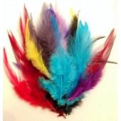 20 шт. Микс цвет. Перья петуха 5-10 см. Цветные перья