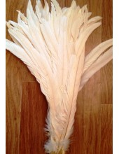 1 шт. Молочный цвет. Перья петуха 20-30 см. Цветное