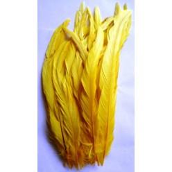 1 шт. Желтый цвет. Перья петуха 20-30 см. Цветное