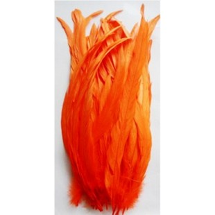 1 шт. Оранжевый цвет. Перья петуха 20-30 см. Цветное
