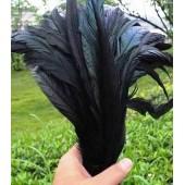 1 шт. Черный цвет.  Перья петуха.  30-35 см. Цветное