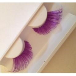 Ф-90. Фиолетовый цвет.  Ресницы из перьев птиц