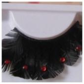 Ф-36. Черный цвет. Ресницы из перьев птиц
