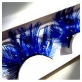 Ф-19. Синий цвет. Ресницы из перьев птицы