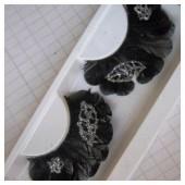 Ф-2. Черный цвет. Ресницы из перьев птицы
