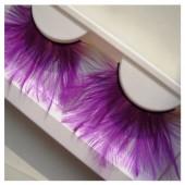 Ф-72. Фиолетовый цвет. Ресницы из перьев птиц
