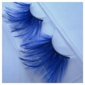 Ф-74. Синий цвет. Ресницы из перьев птиц