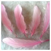 20 шт. Розовый цвет. Перо Петуха 10-15 см