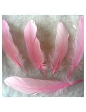 20 шт. Pозовый цвет. Перо Петуха 15-20 см