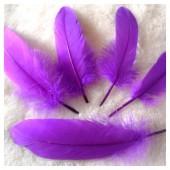 20 шт. Фиолетовый цвет. Перо Петуха 10-15 см