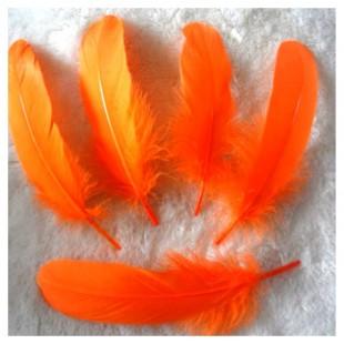 20 шт. Оранжевый цвет. Перо Петуха 10-15 см