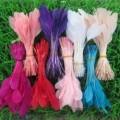 Перья кисточки 12-17 см. Цветная