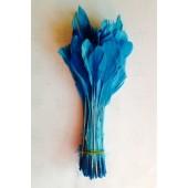 20 шт. Голубой цвет. Перья петуха. Кисточка 12-17 см. Цветная