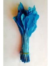 20 шт. Голубой цвет.  Кисточка цветная 12-17 см