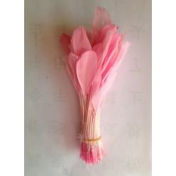 20 шт. Розовый цвет.  Кисточка цветная 12-17 см