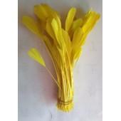 20 шт. Желтый цвет. Перья петуха. Кисточка 12-17 см. Цветная