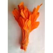 20 шт. Оранжевый цвет. Перья петуха. Кисточка 12-17 см. Цветная