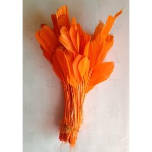 20 шт. Оранжевый цвет.  Кисточка цветная 12-17 см