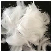 100 шт. Белый цвет. Гусиное перо 4-9 см.Плавающее
