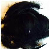 100 шт. Черный цвет.  Гусиное перо 4-9 см. Плавающее