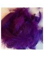 100 шт.  Фиолетовый цвет. Гусиное перо 4-9 см. Плавающее