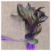 20 шт. Фиолетовый цвет. Перо петуха. Кисточка 10-20 см. 2-х цветное