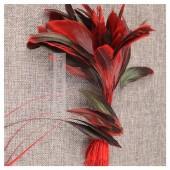20 шт. Красный цвет.  Кисточка 10-20 см. 2-х цветное