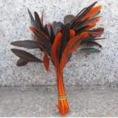 20 шт. Оранжевый цвет. Кисточка 10-20 см. 2-х цветное
