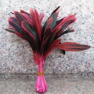 20 шт. Розовый цвет. Кисточка 10-20 см. 2-х цветное