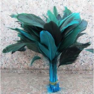 20 шт. Голубой цвет.  Кисточка 10-20 см. 2-х цветное