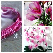 8 м. Розовый цвет. Цветная проволочка для цветов. № 22