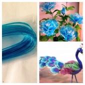 8 м. Голубой цвет. Цветная проволочка для цветов. № 22