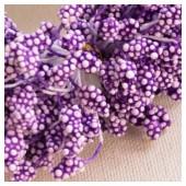 04. 50 шт. Фиолетовый цвет. Тычинки на ниточке для цветов