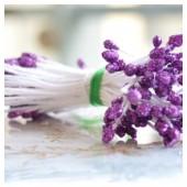 09. 50 шт. Фиолетовый  цвет. Тычинки на ниточке для цветов
