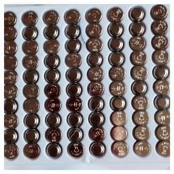 100 шт.  Батарейки для светодиодов в шары