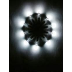 1 шт. Белый цвет. Светодиоды в воздушные шарики.