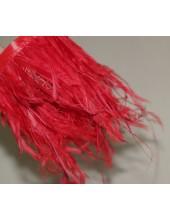 1 м. Красный цвет. Тесьма из перьев американского петуха 8-12 см.