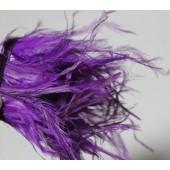 1 м. Фиолетовый цвет. Тесьма из перьев американского петуха 8-12 см.
