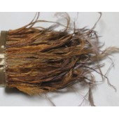 1 м. Шоколад цвет. Тесьма из перьев американского петуха 8-12 см.
