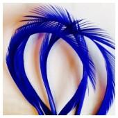 20 шт. Синий цвет. Гусиное перо 13-18 см. Волосок