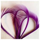 20 шт. Фиолетовый цвет. Гусиное перо 13-18 см. Волосок