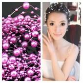 1 шт. Фиолетовый цвет. Жемчужная нить для украшения волос