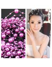 Фиолетовый цвет. Нить жемчужинка   для волос