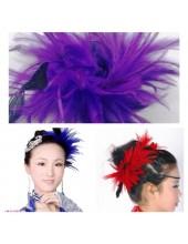 TY-5. Фиолетовый цвет. Заколка из перьев птиц для волос