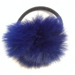 ЛЛ-3. Синий цвет. Заколка пушистая.