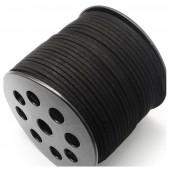 Черный цвет. Замшевый плоский шнур.3 мм  100 м