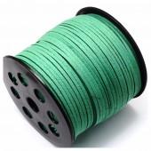 Зеленый цвет. Замшевый плоский шнур.3 мм  100 м